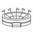 baseball arena icon outline style vector image vector image