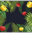 branches leaves plants and flowers background vector image vector image