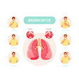 bronchitis symptoms vector image vector image