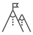 business mission line icon development vector image
