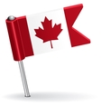 canadian pin icon flag vector image