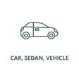 car sedan vehicle line icon car sedan vector image vector image