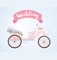 carriage for true princess vector image