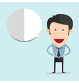 cartoon with blank bubble in flat style vector image