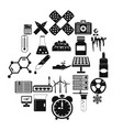 chemical composition icons set simple style vector image