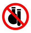 chemical substances stop forbidden prohibition vector image vector image