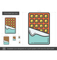 chocolate bar line icon vector image vector image