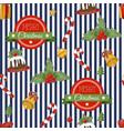 christmas holiday pattern with santa vector image vector image