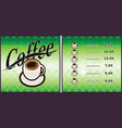 coffee shop design elements vintage vector image vector image