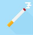 colored flat design cigarette orange filter vector image vector image
