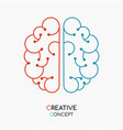 creative thinking human brain concept for new idea vector image