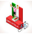 Cyclist 2016 Giro Winner Isometric People vector image vector image