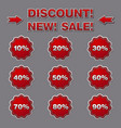 discount labels and stickers for sales vector image