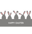 easter banner with eggs decorated with rabbit ears vector image vector image