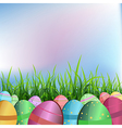Easter eggs in lawn vector image