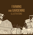 farming agricultural instruments vector image vector image