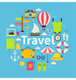 Flat Style Beach Travel Concept vector image vector image