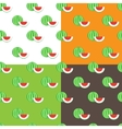 flat watermelons seamless pattern vector image vector image