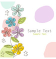 floral greeting card postcard vector image vector image