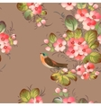 Floral textile seamless pattern in Russian vector image