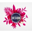 frame floral pink vector image vector image