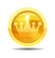 game coin with crown game interface gold vector image vector image