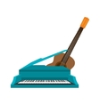 guitar and piano instrument isolated icon vector image vector image