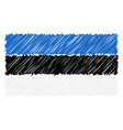 hand drawn national flag of estonia isolated on a vector image vector image