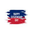 happy citizenship design vector image vector image