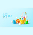 happy easter holiday banner vector image vector image