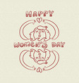happy international womens day nature care doodle vector image vector image
