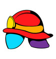 helmet for a firefighter icon icon cartoon vector image vector image
