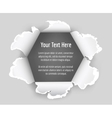 Hole in sheet of paper vector image vector image