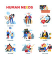 human needs material or spiritual lifestyle and vector image