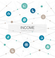 income trendy web template with simple icons vector image