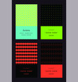 invitation colorful cards set vector image