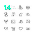 likes - set of line design style icons vector image