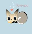 love kitten vector image vector image