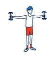 man character sport fitness athletic vector image vector image
