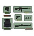 Military weapons icons Game resources vector image vector image