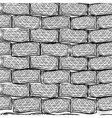 Old bricks Seamless Doodle style vector image vector image