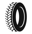 one tyre icon simple style vector image vector image