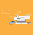 online business training vector image vector image