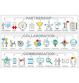 partnership collaboration set vector image