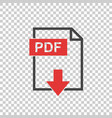 pdf icon on isolated background vector image vector image