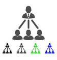 people organization structure flat icon vector image vector image