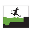 person jumping vector image vector image