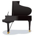piano royal on white vector image vector image