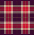 pink and purple tartan plaid scottish pattern vector image