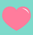 pink heart shining icon happy valentines day sign vector image vector image